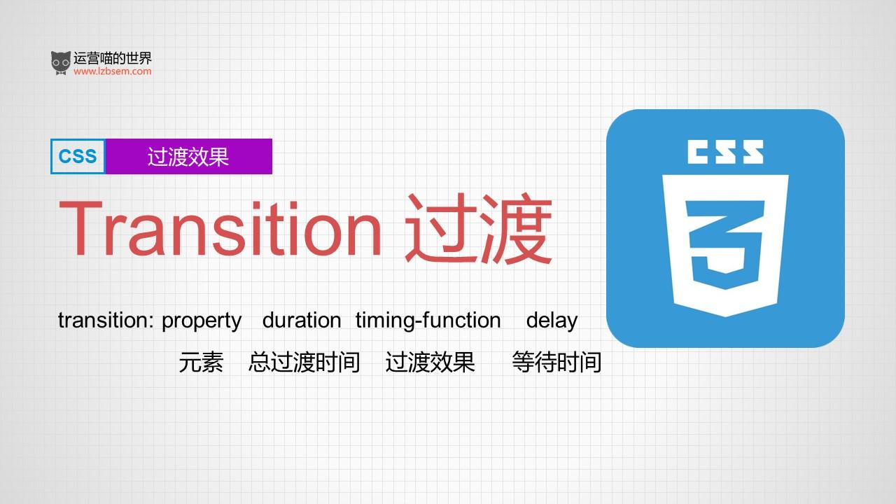 『CSS3』深入理解CSS过渡transition,附操作案例